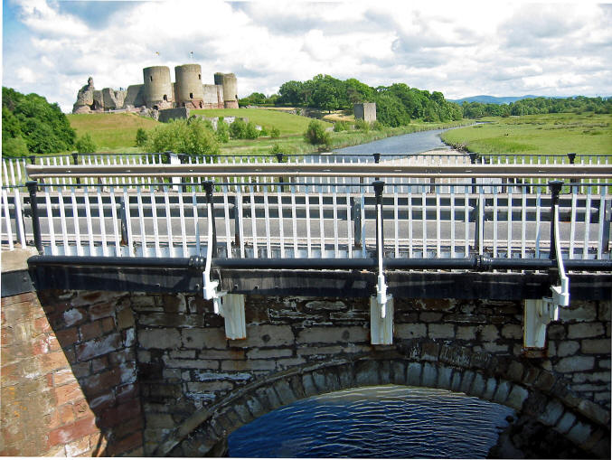 Photo of Rhuddlan castle from end of Afon Clwyd cycle path