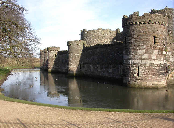 Beaumaris castle and moat