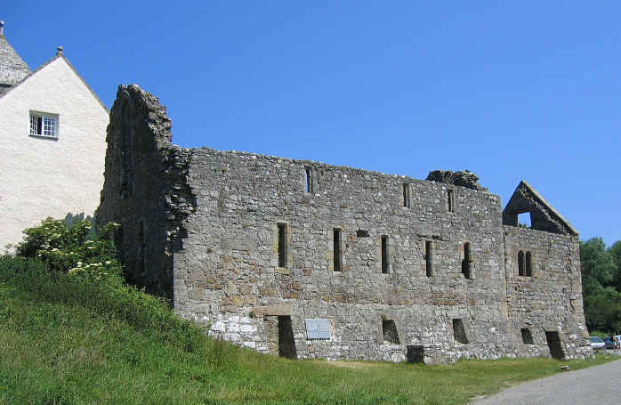 The ruins of the medieval monastery at Penmon