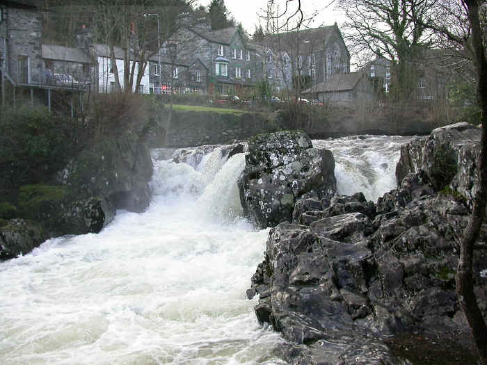 The rapids at Betws-y-Coed