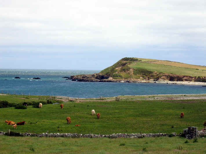 View of north coast of Anglesey