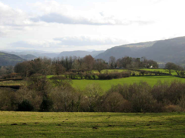 Looking down the Conwy valley on the way to Tyn-y-Groes