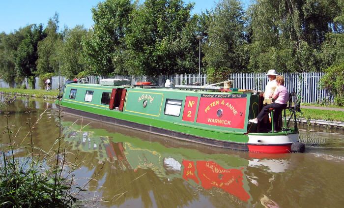 Photo of canal boat