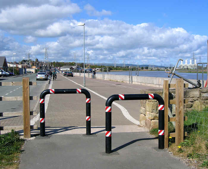 View of Connah's Quay wharf from end of cycle path