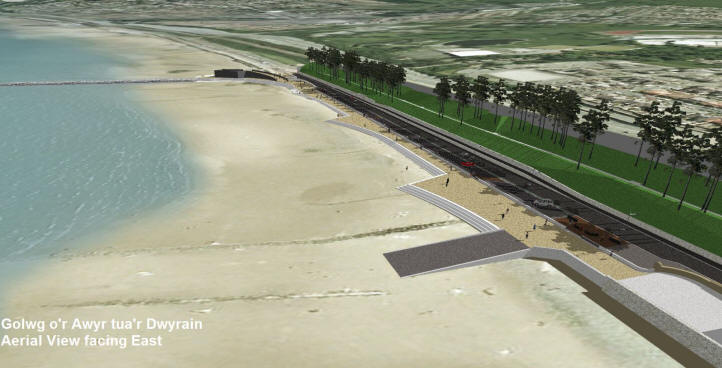 Proposed plan for Colwyn Bay prom