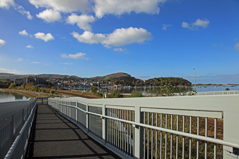 Photo of view of Conwy estuary from cycle bridge