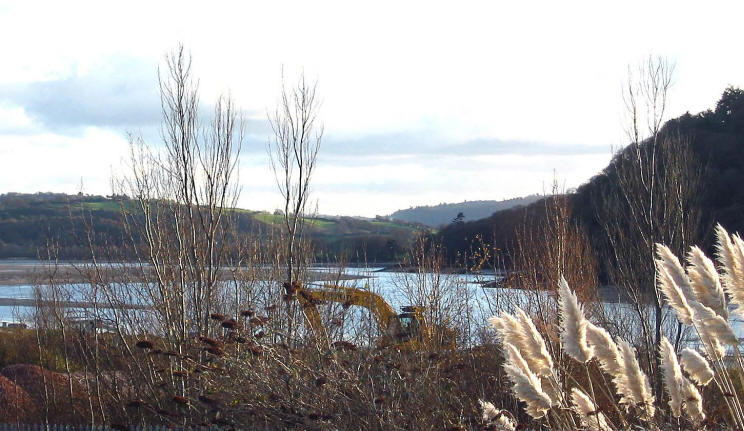 Photo of view from cycle path looking down Conwy valley