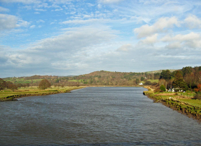 View of the river Conwy from the Tal-y-Cafn bridge
