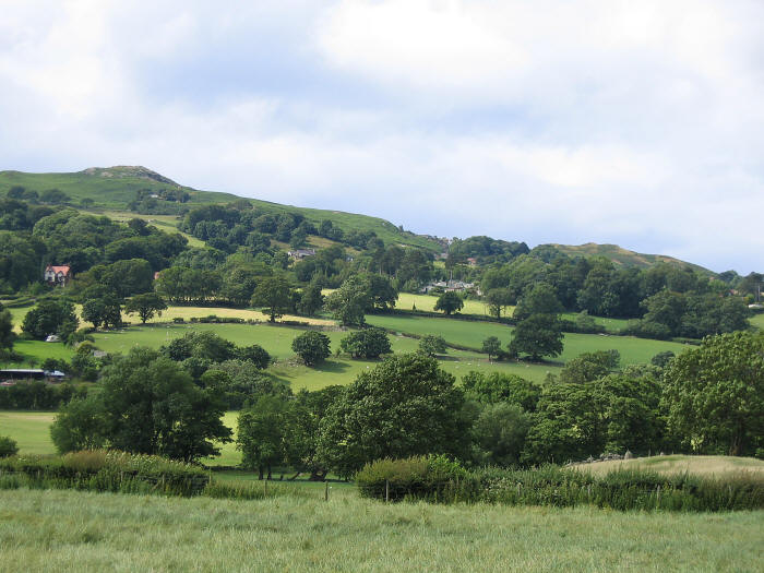 Photo of countryside in lower Conwy valley