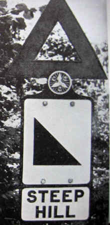 Photo of a Steep Hill warning sign with a CTC sign