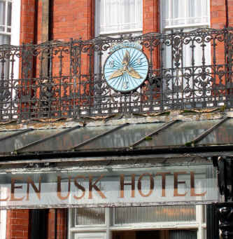 Photo of front of Glen Usk Hotel, Llandrindod Wells