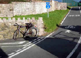 Walls have been lowered to improve visibility for cyclists on cycle path