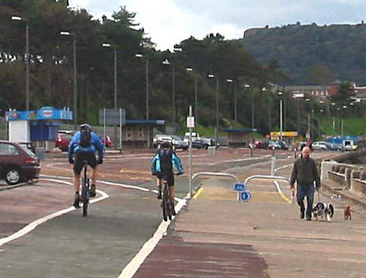 Cycle path on Colwyn promenade