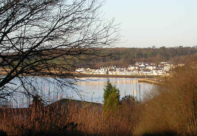 Felinheli seen from the end of the cyleway
