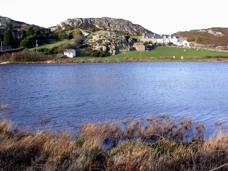 The small lake at Mynydd Bodafon