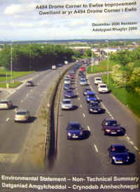 Heavy traffic on the A55