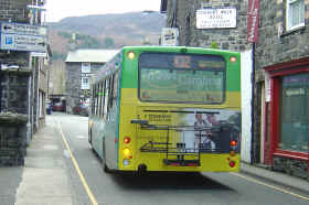 Bus with cycle rack