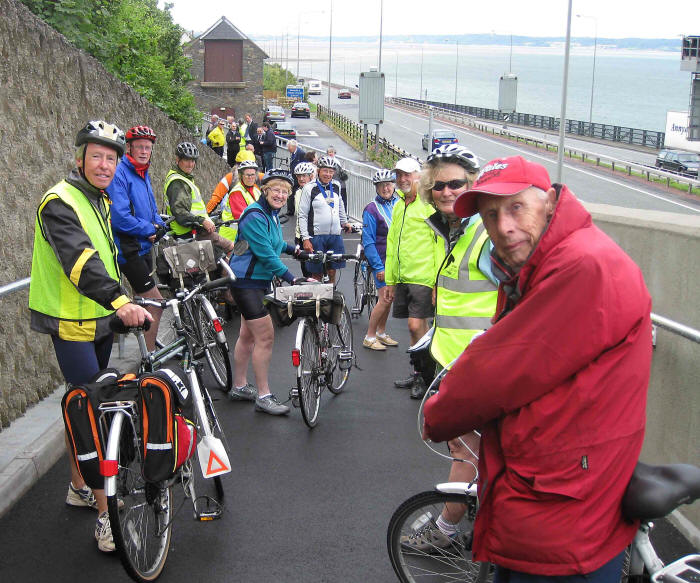 Photo of CTC and Sustrans members