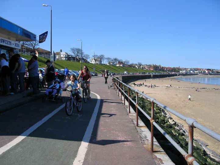 The Cayley section of the promenade at Colwyn Bay