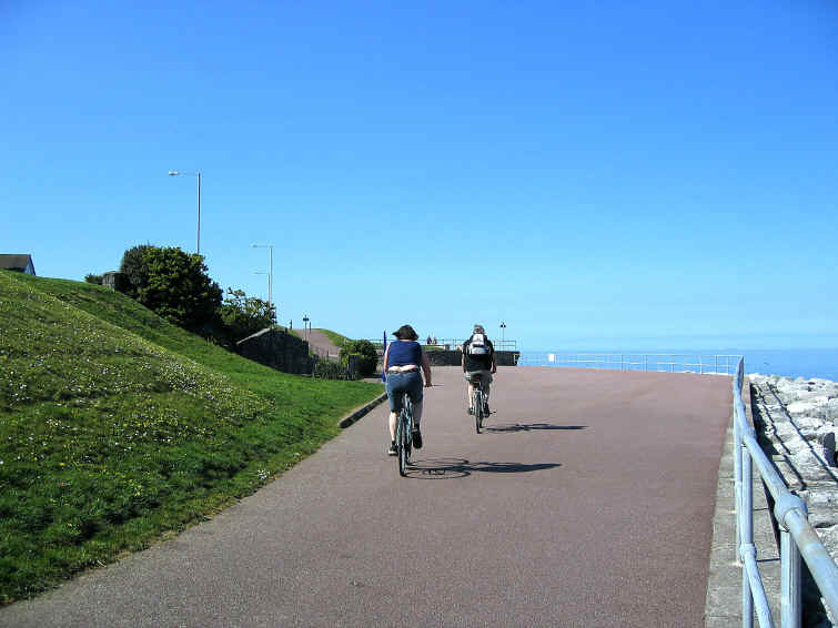 The lower promenade after Rhos point, Rhos on Sea