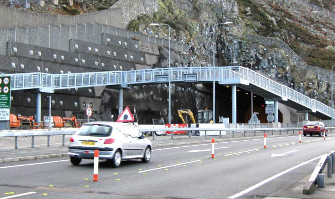 Photo of new bridge on Penmaenmawr side