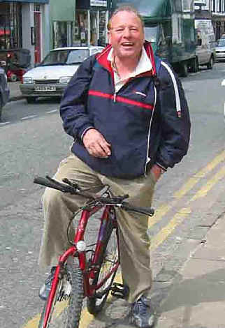 David Hinks with bike