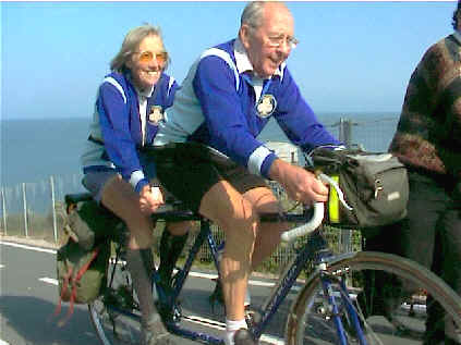 Ken and Pat Brown on the Claud Butler tandem they bought 50 years ago