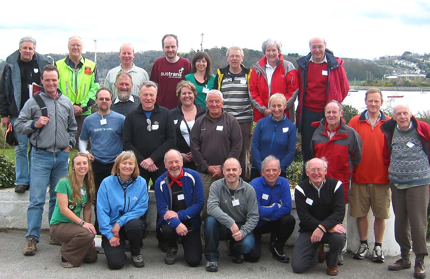 Group photo of the participants of the Sustrans workshop at Deganwy