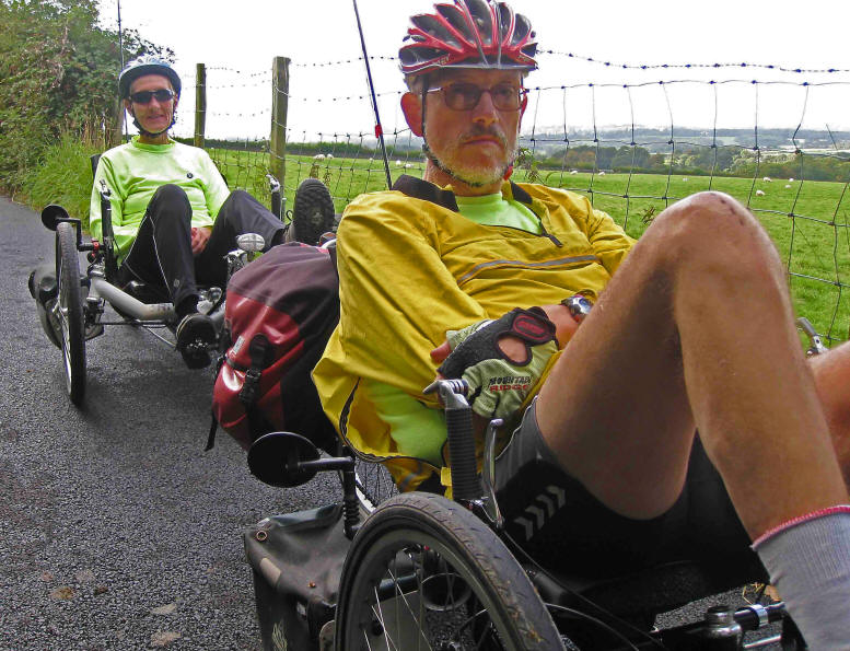 photo of Bob and Cris Birch on recumbent trikes