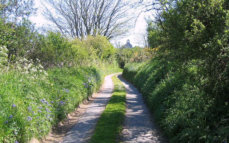 A typical quiet country lane in Lleyn
