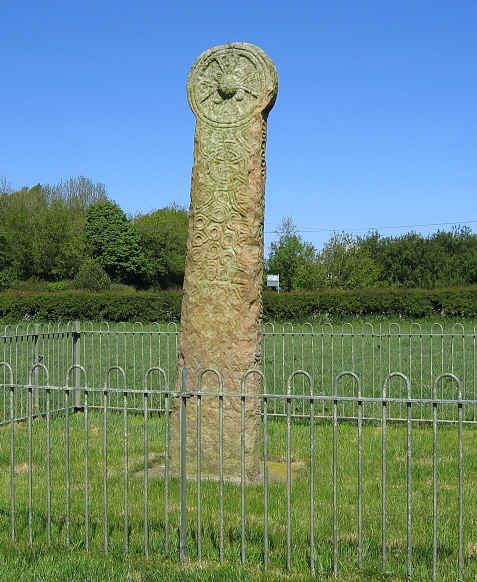 Possibly the tallest wheel cross in Britain - about 1000 years old