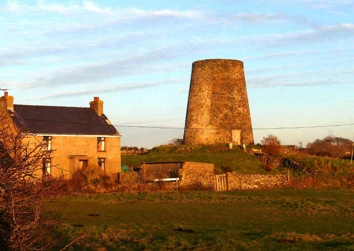 Ruined windmill at Gwalchmai
