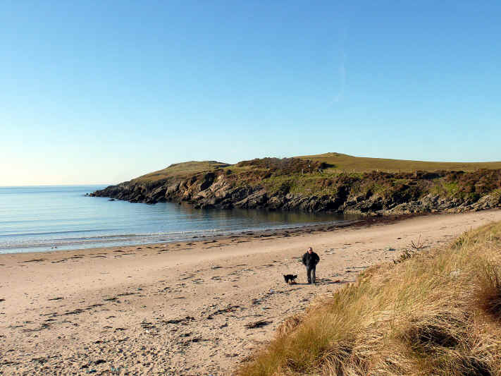 Cable Bay (Porth Trecastell) is popular with swimmers, surfers and canoeists