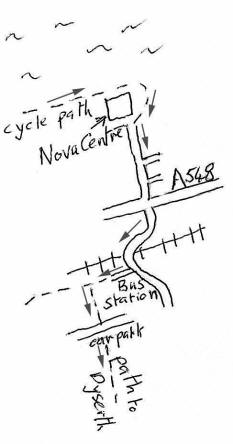 Sketch map of cycle route