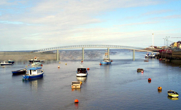 Photo montage of proposed Foryd bridge, Rhyl
