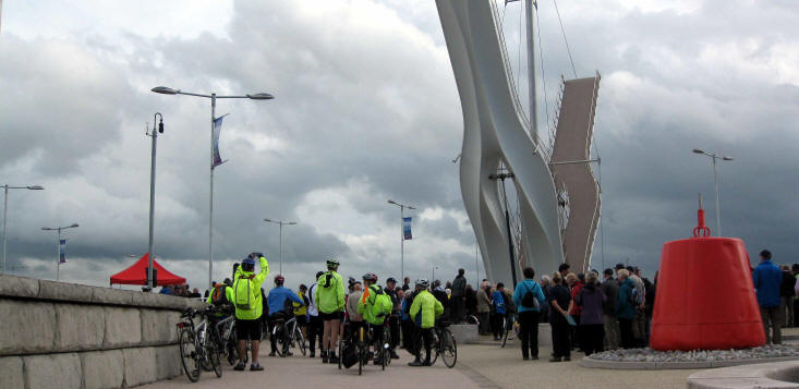 Opening of Rhyl pedestrian and cycle bridge