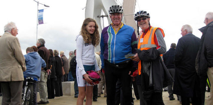 Opening of cycle bridge at Rhyl
