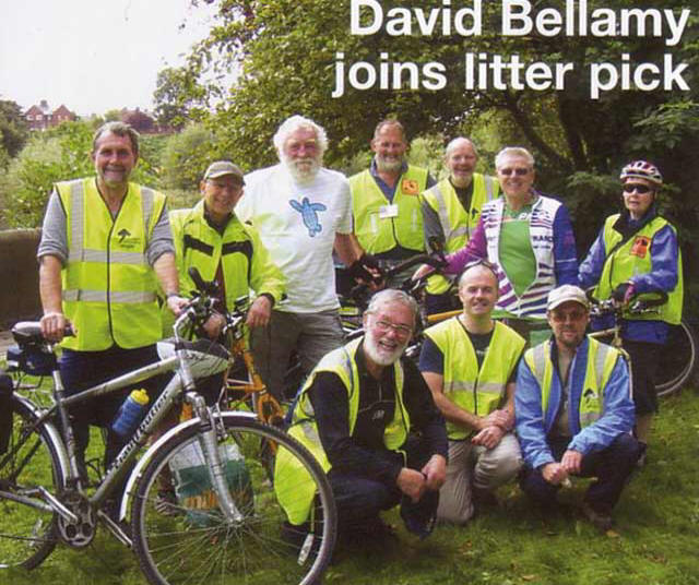 David Bellamy joins a Sustrans Ranger litter pick