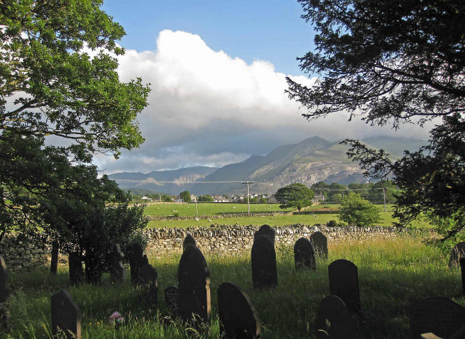 Photo from Llanllechid churchyard