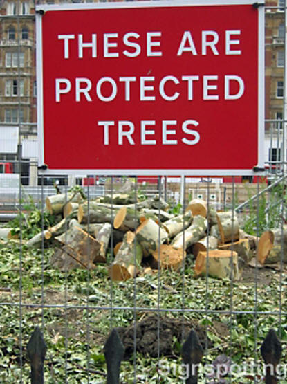 How not to save the environment, London